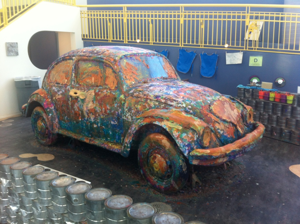 A VW bug that you can paint...  Try to resist!
