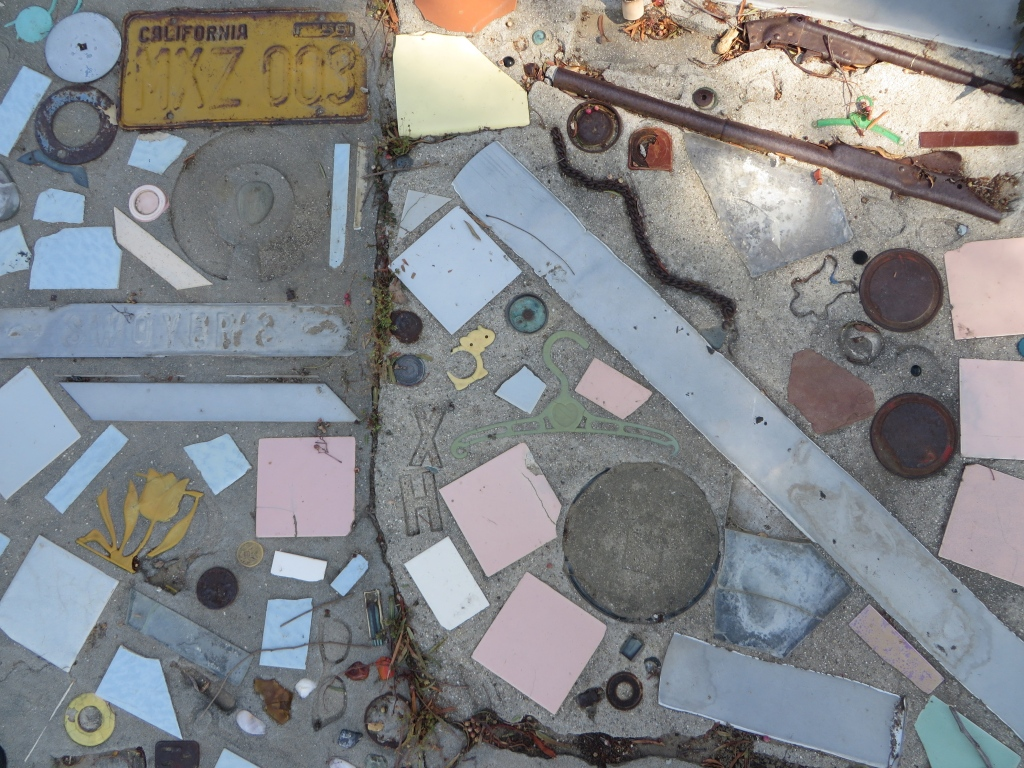Prisbrey created mosaics containing all kinds of little wonders she gleaned from the Santa Susana dump.